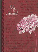 """My Journal"" (Red Floral) Hardcover Journal"