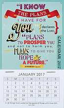 I Know the Plans Mini Magnetic Calendar 2017