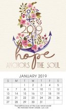 Hope Anchors the Soul 2019 Mini Magnetic Calendar