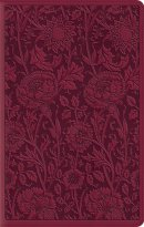 ESV Large Print Compact Bible (TruTone, Berry, Floral Design)