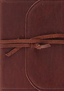 Esv Study Bible (Brown, Flap With Strap)