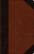 Esv Large Print Thinline Bible (Trutone, Brown/Cordovan, Por