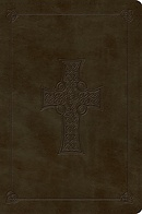 ESV Large Print Bible (TruTone, Olive, Celtic Cross Design)