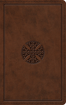 ESV Thinline Bible (TruTone, Brown, Mosaic Cross Design)