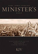 Kjv Ministers Bible Imlth Blk