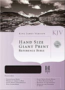 KJV Handsize Giant Print Black Genuine Leather