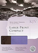 KJV Large Print Compact Bible Imitation Leather Purple - Brown