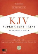 KJV Super Giant Print Reference Bible Black/tan Simulated Leather