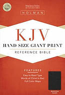 KJV Hand Size Giant Print Reference Bible - Mantova Black Simulated Leather Black