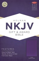NKJV Gift and Award Bible Purple Imitation Leather