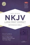 NKJV Larger Print Compact Reference Bible, Purple Imitation Leather
