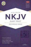 NKJV Giant Print Reference Bible, Purple Imitation Leather