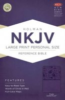NKJV Large Print Personal Size Reference Bible Purple Imitation Leather