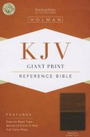 Kjv Giant Print Reference Bible, Brown/tan Leathertouch