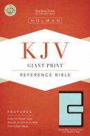 Kjv Giant Print Reference Bible, Brown/blue Leathertouch With Magnetic