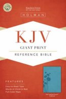Kjv Giant Print Reference Bible, Teal Leathertouch Indexed