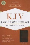 KJV Large Print Compact Bible, Classic Mahogany Leathertouch