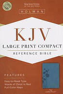 KJV Large Print Compact Bible Teal Imitation Leather
