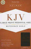 Kjv Large Print Personal Size Bible, Saddle Brown Leathertouch Indexed