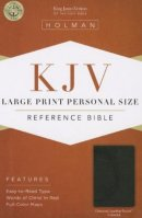Kjv Large Print Personal Size Bible, Charcoal Leathertouch Indexed