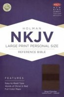 Nkjv Large Print Personal Size Reference Bible, Brown/chocolate Leathe