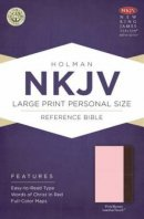 Nkjv Large Print Personal Size Reference Bible, Pink/brown Leathertouc