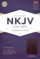 NKJV Giant Print Reference Bible, Burgundy Imitation Leather