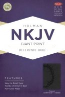 NKJV Giant Print Reference Bible, Charcoal Leathertouch Indexed