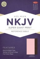 Nkjv Super Giant Print Reference Bible, Pink/brown Leathertouch