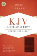 KJV Super Giant Print Reference Bible: Brown, Leathertouch