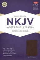 NKJV Large Print UltraThin Reference Bible, Brown Genuine Cowhide