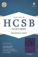 HCSB Giant Print Reference Bible, Purple Leathertouch Indexe