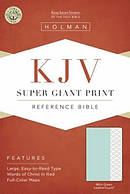 Kjv Super Giant Print Reference Bible, Mint Green Leathertou