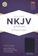 NKJV Ultrathin Reference Bible, Black Genuine Leather Indexe