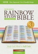 NIV Rainbow Study Bible, Maroon Leathertouch, Indexed