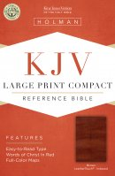 KJV Large Print Compact Reference Bible, Brown Cross Leather
