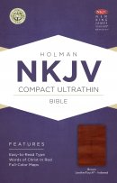 NKJV Compact Ultrathin Bible, Brown Cross Leathertouch, Inde