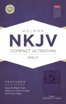 NKJV Compact Ultrathin Bible, Purple Leathertouch, Indexed