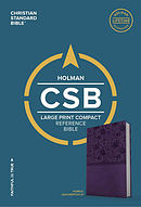 CSB Large Print Compact Reference Bible, Purple Leathertouch