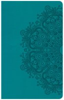 CSB Ultrathin Reference Bible, Teal Leathertouch