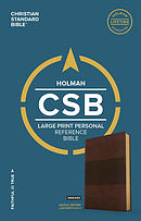 CSB Large Print Personal Size Reference Bible, Saddle Brown LeatherTouch