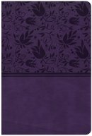 CSB Large Print Personal Size Reference Bible, Purple Leathe
