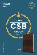 CSB Giant Print Reference Bible, Saddle Brown Leathertouch,