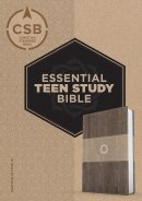 CSB Essential Teen Study Bible, Weathered Gray Cork Leathert