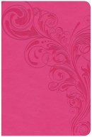 CSB Compact Ultrathin Reference Bible, Pink Leathertouch, In