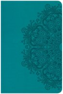 CSB Compact Ultrathin Reference Bible, Teal Leathertouch