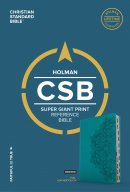 CSB Super Giant Print Reference Bible, Teal Leathertouch, In
