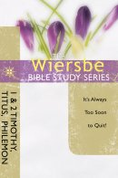 Wiersbe Bible Study Series The  1  2 Tim