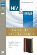NIV/The Message Parallel Study Bible Caramel/Black Cherry Duo Tone