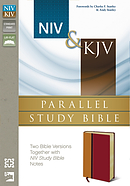 NIV/KJV Parallel Study Bible Amber/Rich Red Duo Tone